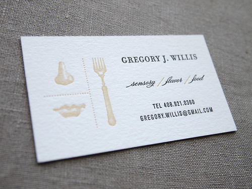 Custom letterpress calling card | by Missive Press