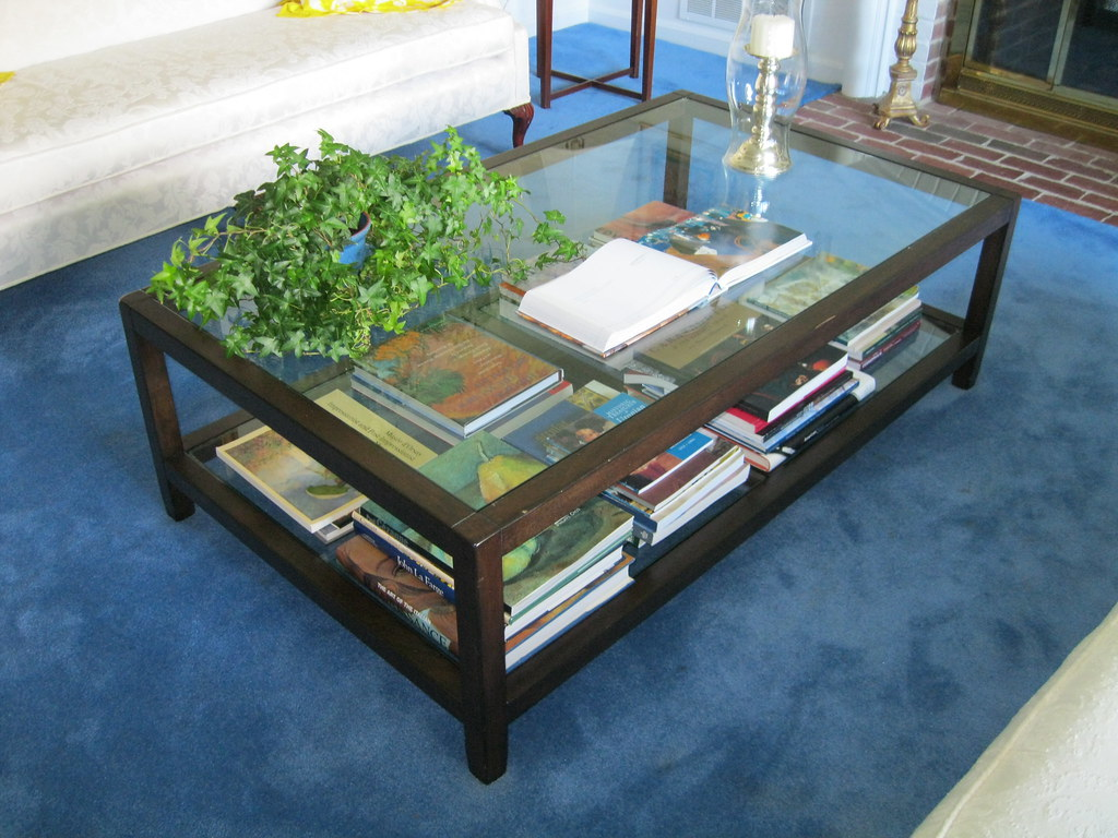 Pottery Barn Glass And Solid Wood Coffee Table 350 Flickr