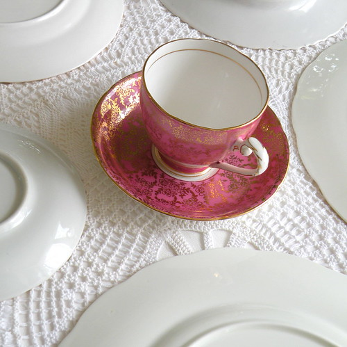 Royal Grafton fine bone china teacup & sauce in raspebrry pink from England | by highteaforalice