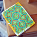 Back of mini quilt