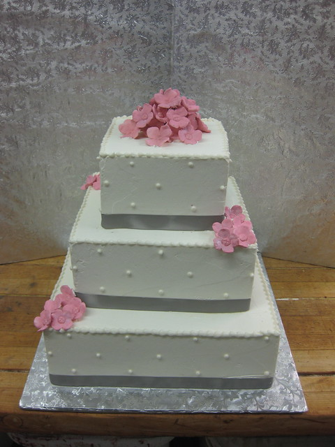 Silver And Pink Wedding Cake Flickr Photo Sharing
