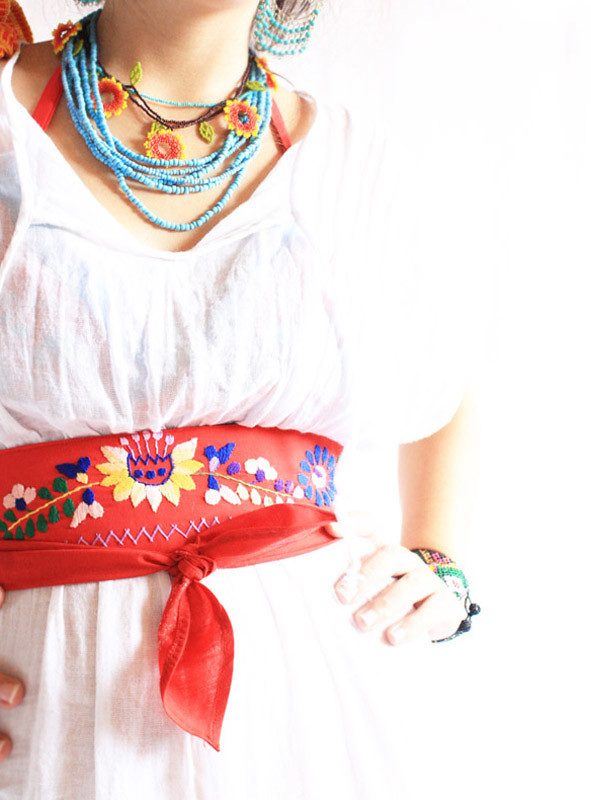 Mexican embroidered belt aida coronado galeria flickr