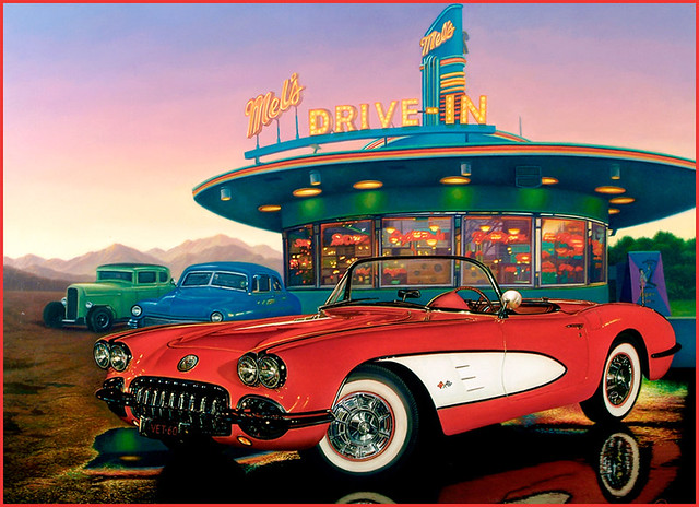 Vintage Car Paintings fine art motorcycles a...
