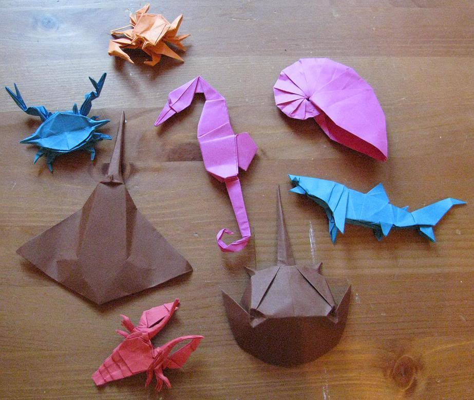 origami sea life some sea life i made for the son of a cow daniel flickr. Black Bedroom Furniture Sets. Home Design Ideas