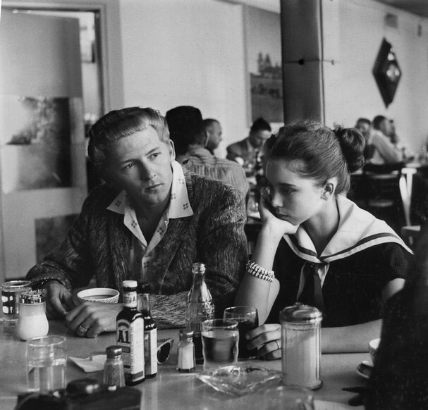 Jerry Lee Lewis (23) and his wife Myra (13), Memphis airpo