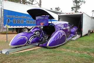 1939 Lincoln Zephyr Sedan Delivery and Deco Rides Motorcycle | by Fred R Childers Photography