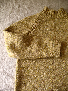 yellow pullover detail | by coco knits