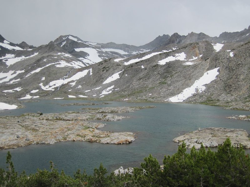 One of the Marie Lakes, Lake 10856, from the Marie Lakes Trail