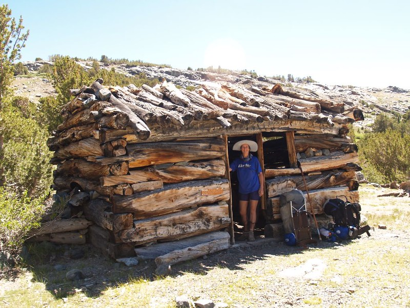 A solidly-made Log Cabin at Mono Pass