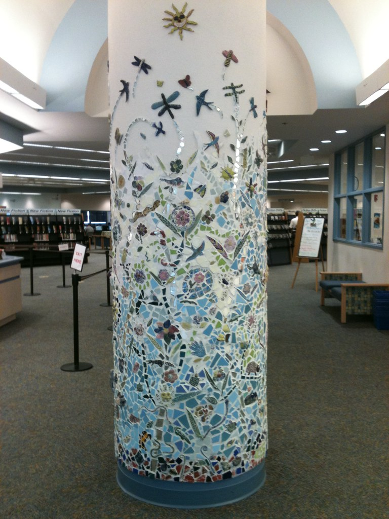 Mosaic at the deltona fl public library isn 39 t this - Como decorar columnas ...