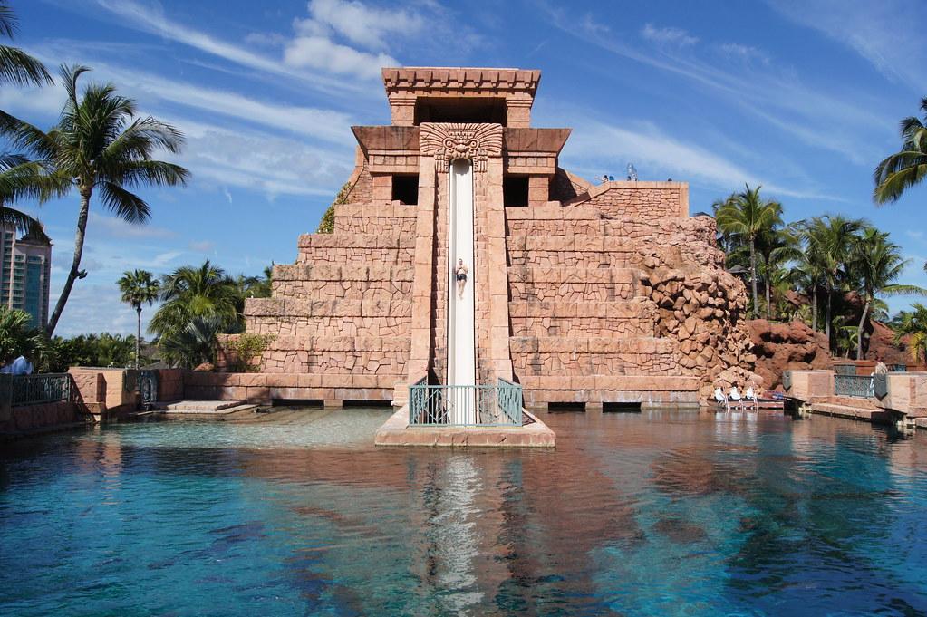 Aztec Pyramid Water Slide at Atlantis 3 | Brett Gale | Flickr