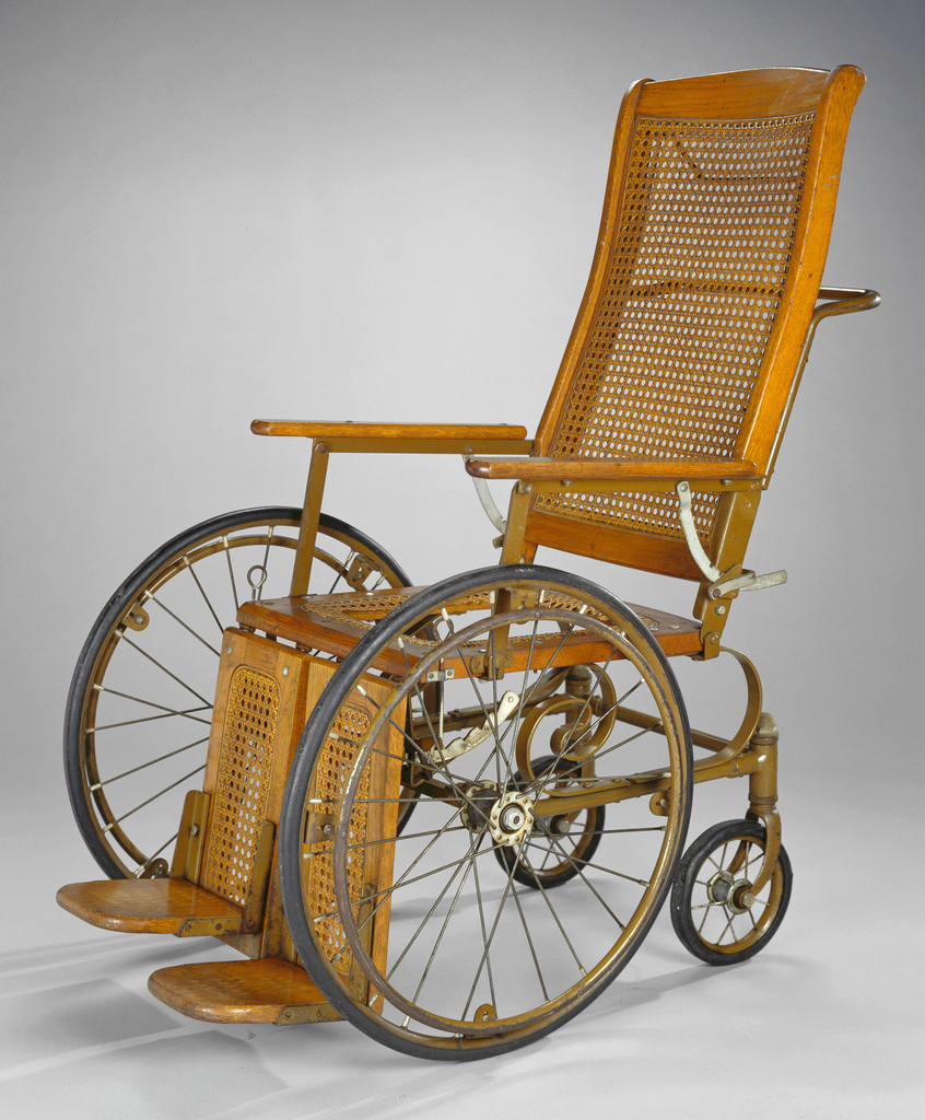 Wicker wheelchair description a wood framed and