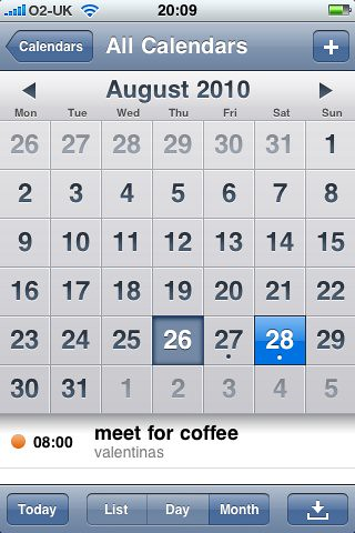 how to create a new calendar on iphone