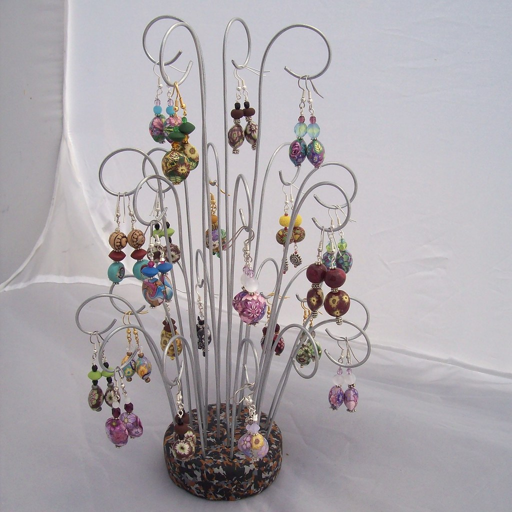 Diy Earring Display The Base Is Made With Polymer Clay