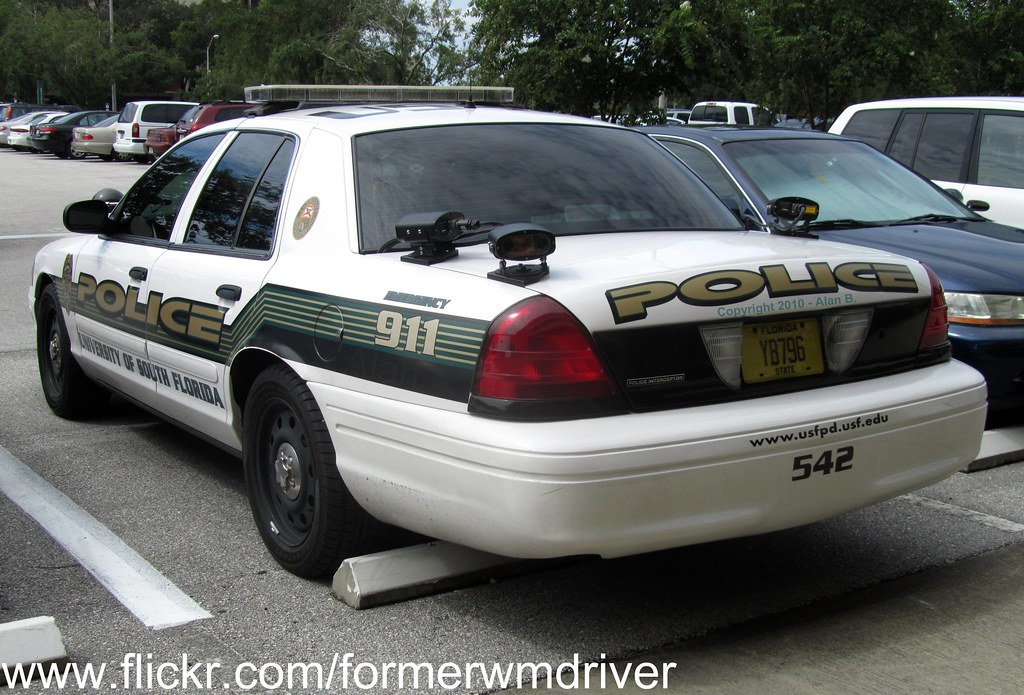 University Of South Florida Police 542 This Vehicle Is