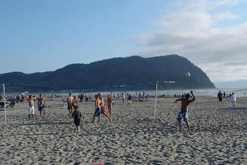 Volleyball on the Beach Seaside, Oregon | by Visit Seaside Oregon