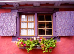 A window in Alsace, France by DomiKetu