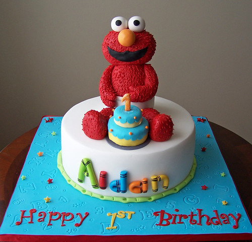 Elmo Cake All elements of this cake were custom-made ...
