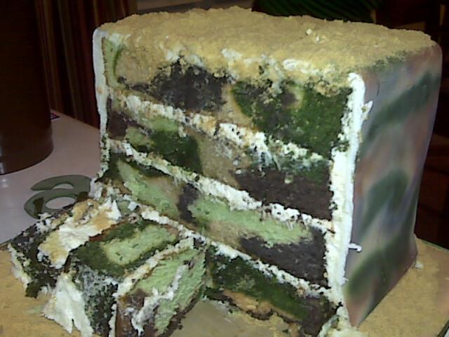 Inside Of Camouflage Cake Lecake Flickr