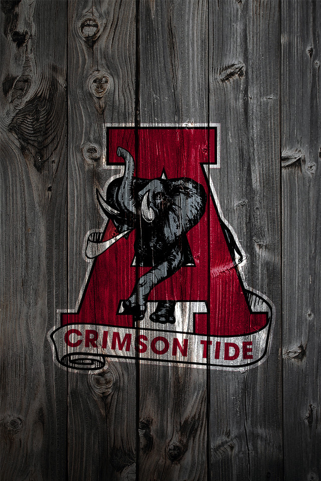 Alabama Crimson Tide Alternate Logo 2 Wood iPhone 4 Backgr Flickr