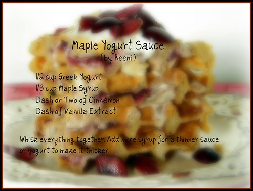Maple Yogurt Sauce Recipe | by CinnamonKitchn