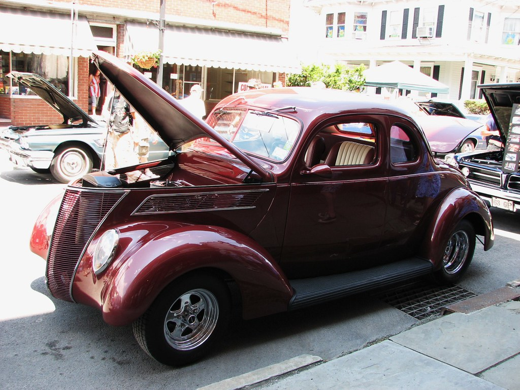 A Custom 1937 Ford Coupe In July 2010 Seen At The 2010