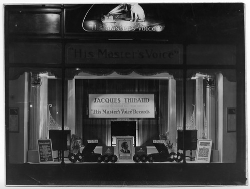hmv 363 Oxford Street, London - Jacques Thibaud window display - dated in the back 19th April 1927.