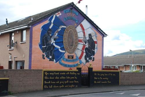 Loyalist mural belfast northern ireland taken in the for Mural northern ireland