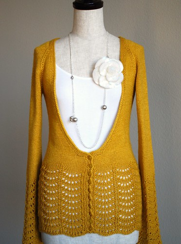 golden scallop cardi | by knittimo