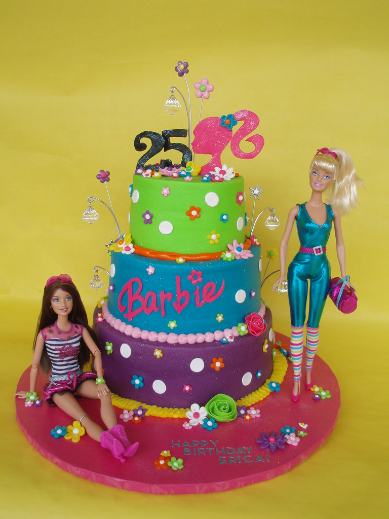 Barbie Themed 25th Birthday Cake Erica Celebrated Her