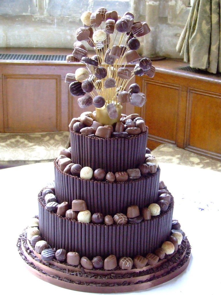 dark chocolate truffle wedding cake chocolate cake by hockleys this is a three tier 13336
