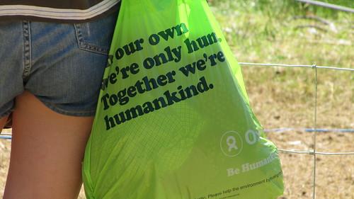 Oxfam Humankind bag at Latitude 2010