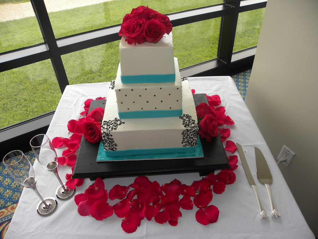 wedding cakes in wilmington nc black and teal wedding cake carolina cakes amp confecti 24801