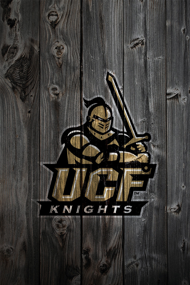 University of Central Florida Golden Knights Logo Wood iPh ...
