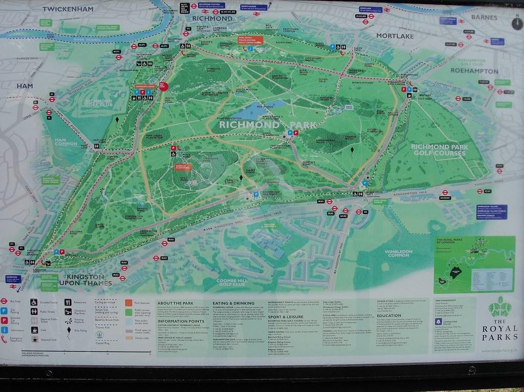 Map of Richmond Park Maxwell Hamilton Flickr