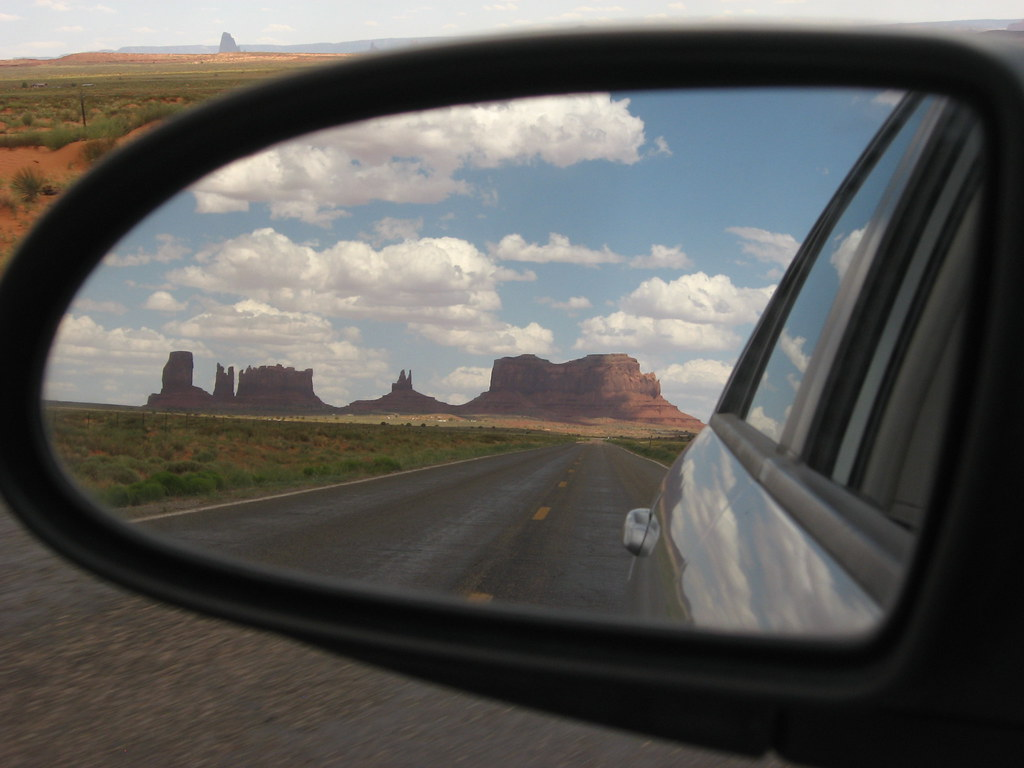 Monument Valley In The Rearview Mirror Monument Valley