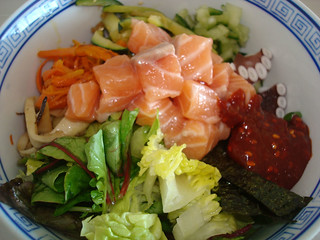 Poeh's hwedeopbap (raw fish with vegetables and rice) | by maangchi