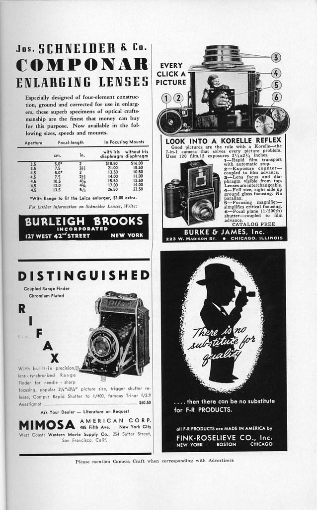 ... Schneider Componar / Korelle Reflex / Rifax / F - R Products 1939 | by Nesster