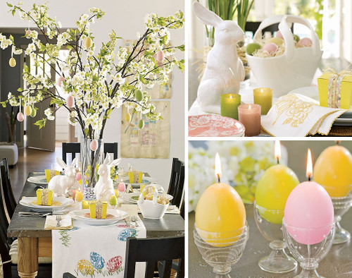 Pottery Barn Easter Table Setting Ideas Happy