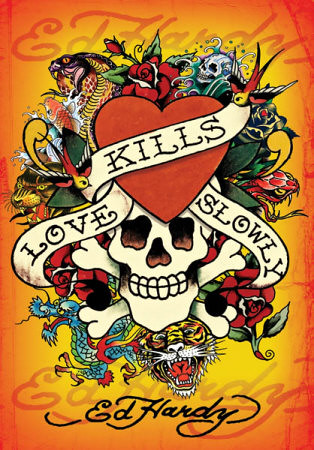 ed hardy love kills slowly tattoo apart from skull and r flickr. Black Bedroom Furniture Sets. Home Design Ideas