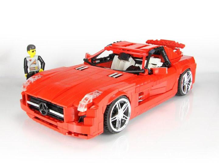 Malte dorowski s red lego sls amg malte dorowski s red for Lego mercedes benz