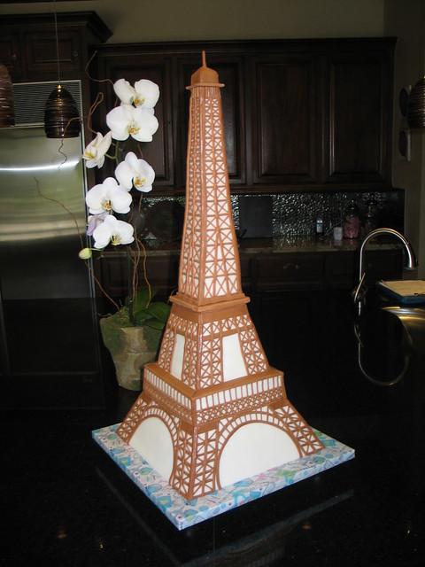 Эйфелевая башня торт фото