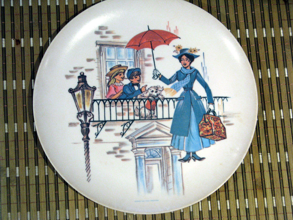 Vintage Disney Mary Poppins Plate by Sun Valley Melmac ...
