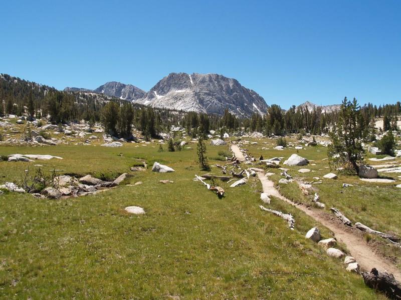 Looking back toward Fletcher Peak from the Rafferty Creek Trail