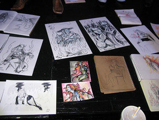 Lady Monster at Dr Sketchy's SF | by Alice Stribling