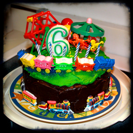 fun carnival train birthday cake for 6 year old boy ttv | by isewcute