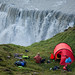 Camping above a waterfall