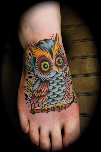 owl tattoo | by Dave Kruseman Tattoo