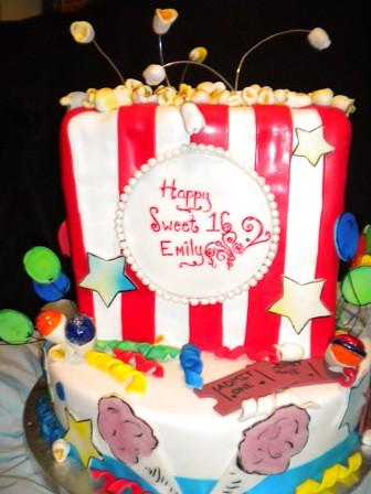 Carnival Themed Sweet 16 Birthday Cake