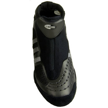 Black And White Adidas Adistar Wrestling Shoes